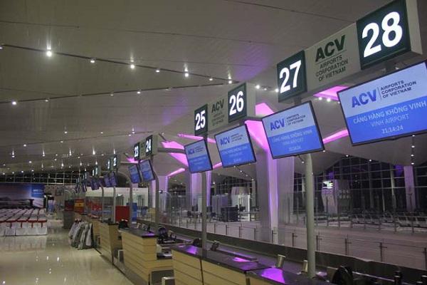 quảng cáo sân bay vinh nghệ an